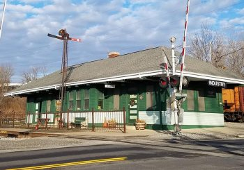 RGV 1909 Erie Railroad Depot at Industry, N.Y.