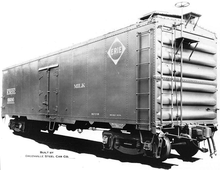 Erie Milk Car No  6603 - Rochester & Genesee Valley Railroad