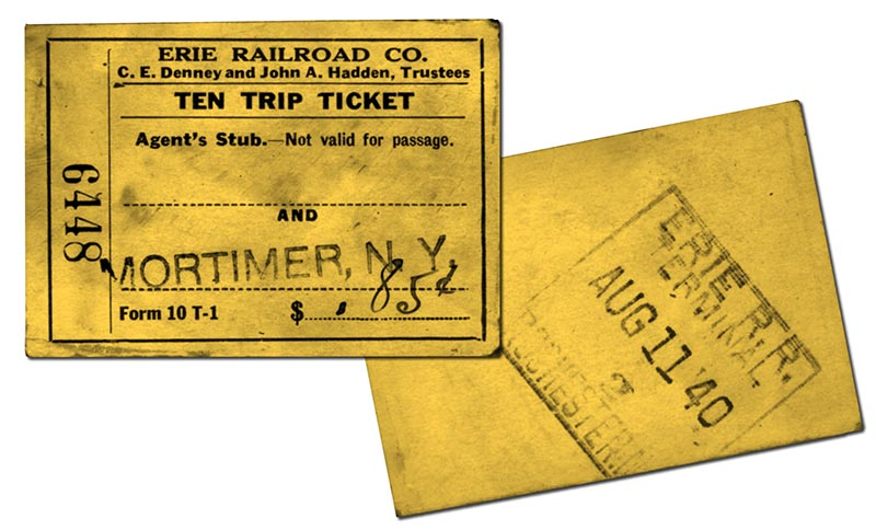 Erie Railroad Tickets