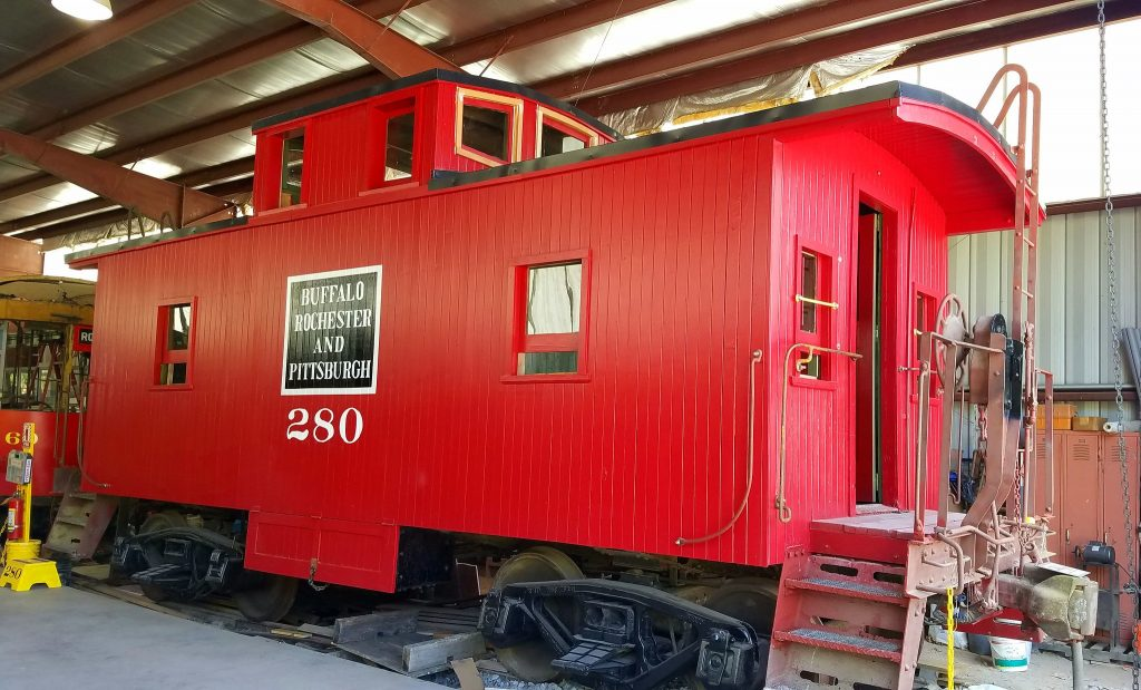 Restored Buffalo, Rochester & Pittsburgh Caboose 280